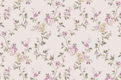 2533 cikkszámú tapéta.Barokk-klasszikus,virágmintás,fehér,pink-rózsaszín,zöld,gyengén mosható,papír tapéta