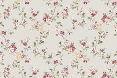 2534 cikkszámú tapéta.Barokk-klasszikus,virágmintás,bézs-drapp,piros-bordó,sárga,zöld,gyengén mosható,papír tapéta