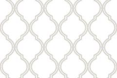 2562 cikkszámú tapéta.Absztrakt,geometriai mintás,fehér,lila,gyengén mosható,papír tapéta