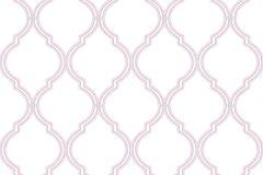 2564 cikkszámú tapéta.Absztrakt,geometriai mintás,fehér,pink-rózsaszín,gyengén mosható,papír tapéta