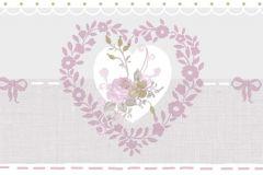2597 cikkszámú tapéta.Barokk-klasszikus,virágmintás,bézs-drapp,fehér,pink-rózsaszín,gyengén mosható,papír bordűr