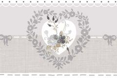 2599 cikkszámú tapéta.Barokk-klasszikus,virágmintás,fehér,szürke,gyengén mosható,papír bordűr