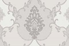 3300 cikkszámú tapéta.Barokk-klasszikus,textil hatású,szürke,súrolható,vlies tapéta