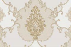 3301 cikkszámú tapéta.Barokk-klasszikus,textil hatású,bézs-drapp,súrolható,vlies tapéta