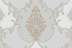 3306 cikkszámú tapéta.Barokk-klasszikus,csillámos,textil hatású,arany,kék,szürke,súrolható,vlies tapéta
