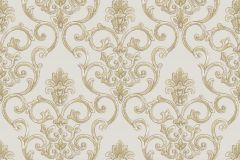 3311 cikkszámú tapéta.Barokk-klasszikus,csillámos,textil hatású,arany,bézs-drapp,súrolható,vlies tapéta