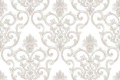 3314 cikkszámú tapéta.Barokk-klasszikus,textil hatású,fehér,pink-rózsaszín,súrolható,vlies tapéta