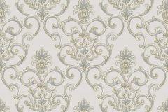 3316 cikkszámú tapéta.Barokk-klasszikus,csillámos,textil hatású,arany,bézs-drapp,kék,súrolható,vlies tapéta