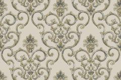 3317 cikkszámú tapéta.Barokk-klasszikus,csillámos,textil hatású,bézs-drapp,szürke,súrolható,vlies tapéta