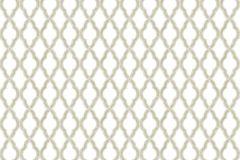 3325 cikkszámú tapéta.Barokk-klasszikus,csillámos,geometriai mintás,kockás,textil hatású,vajszín,zöld,súrolható,vlies tapéta