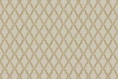 3328 cikkszámú tapéta.Barokk-klasszikus,csillámos,geometriai mintás,kockás,textil hatású,arany,barna,súrolható,vlies tapéta