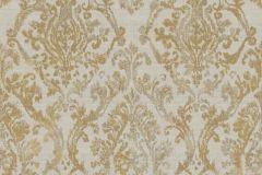 3333 cikkszámú tapéta.Barokk-klasszikus,textil hatású,arany,barna,szürke,súrolható,vlies tapéta