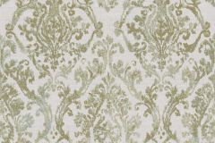 3335 cikkszámú tapéta.Barokk-klasszikus,textil hatású,kék,türkiz,zöld,súrolható,vlies tapéta