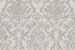 3336 cikkszámú tapéta.Barokk-klasszikus,textil hatású,barna,fehér,szürke,súrolható,vlies tapéta