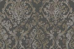 3339 cikkszámú tapéta.Barokk-klasszikus,textil hatású,barna,szürke,súrolható,vlies tapéta