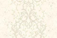 7110 cikkszámú tapéta.Barokk-klasszikus,csipke,különleges felületű,különleges motívumos,metál-fényes,természeti mintás,textil hatású,textilmintás,virágmintás,arany,bézs-drapp,vajszínű,súrolható,vlies tapéta