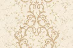 7112 cikkszámú tapéta.Barokk-klasszikus,csipke,különleges motívumos,természeti mintás,textil hatású,textilmintás,virágmintás,arany,bézs-drapp,ezüst,sárga,vajszínű,súrolható,vlies tapéta
