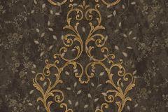 7119 cikkszámú tapéta.Barokk-klasszikus,különleges motívumos,természeti mintás,textil hatású,textilmintás,virágmintás,arany,bézs-drapp,bronz,fekete,súrolható,vlies tapéta