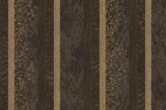 7129 cikkszámú tapéta.Absztrakt,barokk-klasszikus,különleges motívumos,természeti mintás,textil hatású,textilmintás,virágmintás,arany,bézs-drapp,fekete,súrolható,illesztés mentes,vlies tapéta