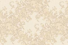 7131 cikkszámú tapéta.Absztrakt,barokk-klasszikus,különleges motívumos,természeti mintás,textil hatású,textilmintás,virágmintás,arany,bézs-drapp,vajszínű,súrolható,vlies tapéta