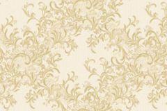 7132 cikkszámú tapéta.Absztrakt,barokk-klasszikus,különleges motívumos,természeti mintás,textil hatású,textilmintás,virágmintás,arany,vajszínű,súrolható,vlies tapéta