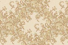 7133 cikkszámú tapéta.Absztrakt,barokk-klasszikus,különleges motívumos,természeti mintás,textil hatású,textilmintás,virágmintás,arany,bézs-drapp,vajszínű,súrolható,vlies tapéta
