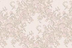 7134 cikkszámú tapéta.Absztrakt,barokk-klasszikus,különleges motívumos,természeti mintás,textil hatású,textilmintás,virágmintás,pink-rózsaszín,szürke,súrolható,vlies tapéta