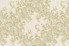 7135 cikkszámú tapéta.Absztrakt,barokk-klasszikus,különleges motívumos,természeti mintás,textil hatású,textilmintás,virágmintás,arany,vajszínű,zöld,súrolható,vlies tapéta