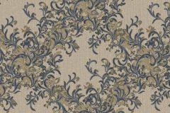 7136 cikkszámú tapéta.Absztrakt,barokk-klasszikus,különleges motívumos,természeti mintás,textil hatású,textilmintás,virágmintás,bézs-drapp,bronz,fekete,vajszínű,súrolható,vlies tapéta