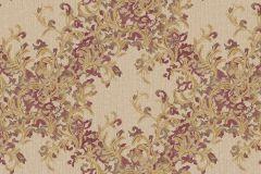 7138 cikkszámú tapéta.Absztrakt,barokk-klasszikus,különleges motívumos,természeti mintás,textil hatású,textilmintás,virágmintás,arany,piros-bordó,vajszínű,súrolható,vlies tapéta
