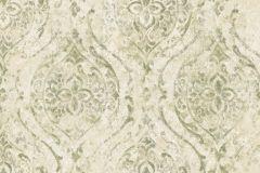 9315 cikkszámú tapéta.Barokk-klasszikus,különleges felületű,különleges motívumos,arany,bézs-drapp,vajszín,zöld,súrolható,vlies tapéta
