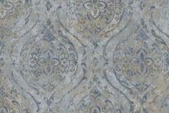 9317 cikkszámú tapéta.Barokk-klasszikus,különleges felületű,különleges motívumos,textil hatású,barna,kék,szürke,súrolható,vlies tapéta