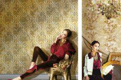 9308 cikkszámú tapéta.Különleges felületű,természeti mintás,arany,bézs-drapp,súrolható,vlies tapéta
