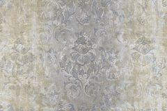 9327 cikkszámú tapéta.Barokk-klasszikus,textil hatású,virágmintás,barna,kék,szürke,súrolható,vlies tapéta