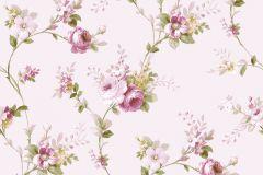 5004 cikkszámú tapéta.Barokk-klasszikus,virágmintás,bézs-drapp,pink-rózsaszín,zöld,súrolható,vlies tapéta