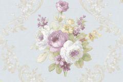 5015 cikkszámú tapéta.Barokk-klasszikus,virágmintás,arany,fehér,pink-rózsaszín,türkiz,zöld,súrolható,vlies tapéta