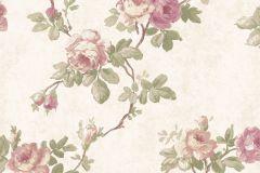 5024 cikkszámú tapéta.Barokk-klasszikus,virágmintás,barna,bézs-drapp,pink-rózsaszín,zöld,súrolható,vlies tapéta
