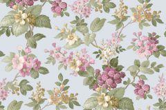 5037 cikkszámú tapéta.Barokk-klasszikus,virágmintás,arany,kék,lila,pink-rózsaszín,sárga,türkiz,zöld,súrolható,vlies tapéta
