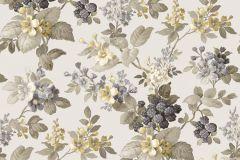 5039 cikkszámú tapéta.Barokk-klasszikus,virágmintás,arany,sárga,szürke,zöld,súrolható,vlies tapéta