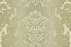 5045 cikkszámú tapéta.Barokk-klasszikus,zöld,súrolható,vlies tapéta