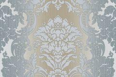 5046 cikkszámú tapéta.Barokk-klasszikus,barna,kék,szürke,súrolható,vlies tapéta