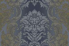 5047 cikkszámú tapéta.Barokk-klasszikus,barna,kék,szürke,súrolható,vlies tapéta