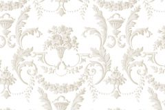5060 cikkszámú tapéta.Barokk-klasszikus,virágmintás,fehér,pink-rózsaszín,súrolható,vlies tapéta