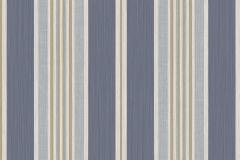 5087 cikkszámú tapéta.Csíkos,bézs-drapp,fehér,kék,súrolható,illesztés mentes,vlies tapéta