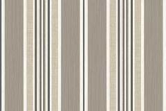5089 cikkszámú tapéta.Barokk-klasszikus,csíkos,barna,bézs-drapp,fehér,súrolható,illesztés mentes,vlies tapéta
