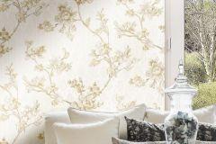 3001 cikkszámú tapéta.Barokk-klasszikus,virágmintás,bézs-drapp,súrolható,vlies tapéta