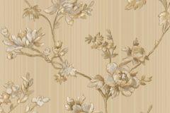 3003 cikkszámú tapéta.Barokk-klasszikus,virágmintás,arany,barna,fehér,szürke,súrolható,vlies tapéta