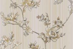 3005 cikkszámú tapéta.Barokk-klasszikus,virágmintás,fehér,szürke,súrolható,vlies tapéta