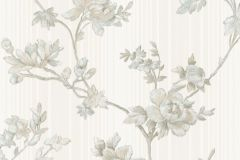 3006 cikkszámú tapéta.Barokk-klasszikus,virágmintás,bézs-drapp,fehér,szürke,súrolható,vlies tapéta