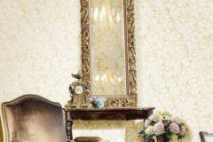 3021 cikkszámú tapéta.Barokk-klasszikus,arany,fehér,szürke,súrolható,vlies tapéta